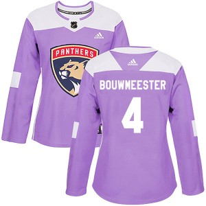 Women's Florida Panthers Jay Bouwmeester Adidas Authentic Fights Cancer Practice Jersey - Purple