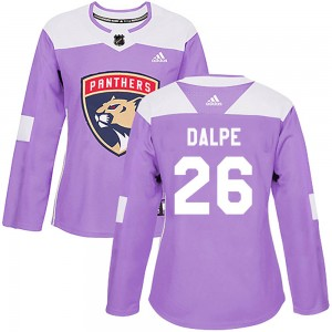 Women's Florida Panthers Zac Dalpe Adidas Authentic Fights Cancer Practice Jersey - Purple