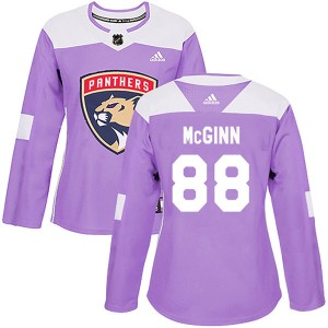 Women's Florida Panthers Jamie McGinn Adidas Authentic Fights Cancer Practice Jersey - Purple