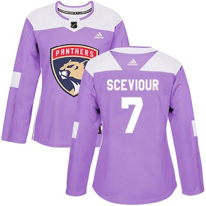 Women's Florida Panthers Colton Sceviour Adidas Authentic Fights Cancer Practice Jersey - Purple
