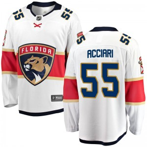 Men's Florida Panthers Noel Acciari Fanatics Branded Breakaway Away Jersey - White