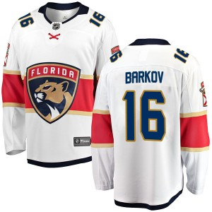 Men's Florida Panthers Aleksander Barkov Fanatics Branded Breakaway Away Jersey - White