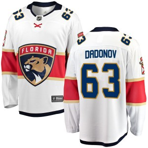 Men's Florida Panthers Evgenii Dadonov Fanatics Branded Breakaway Away Jersey - White
