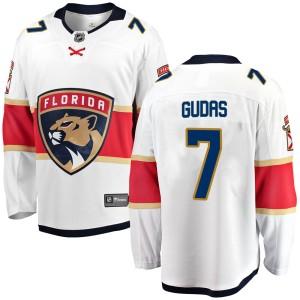 Men's Florida Panthers Radko Gudas Fanatics Branded Breakaway Away Jersey - White