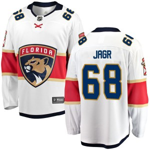 Men's Florida Panthers Jaromir Jagr Fanatics Branded Breakaway Away Jersey - White