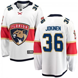 Men's Florida Panthers Jussi Jokinen Fanatics Branded Breakaway Away Jersey - White