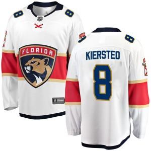 Men's Florida Panthers Matt Kiersted Fanatics Branded Breakaway Away Jersey - White