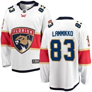 Men's Florida Panthers Juho Lammikko Fanatics Branded Breakaway Away Jersey - White