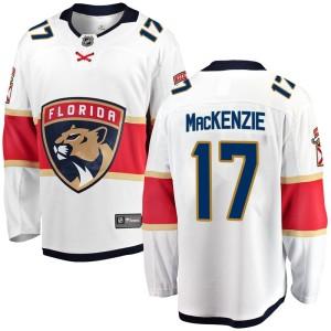 Men's Florida Panthers Derek Mackenzie Fanatics Branded Breakaway Away Jersey - White