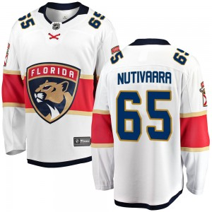 Men's Florida Panthers Markus Nutivaara Fanatics Branded Breakaway Away Jersey - White