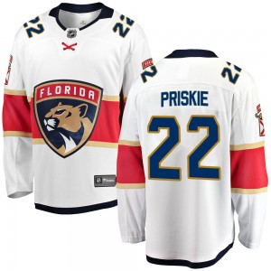 Men's Florida Panthers Chase Priskie Fanatics Branded Breakaway Away Jersey - White