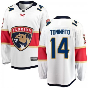 Men's Florida Panthers Dominic Toninato Fanatics Branded Breakaway Away Jersey - White