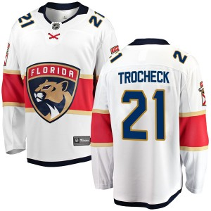 Men's Florida Panthers Vincent Trocheck Fanatics Branded Breakaway Away Jersey - White