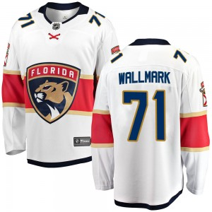 Men's Florida Panthers Lucas Wallmark Fanatics Branded ized Breakaway Away Jersey - White
