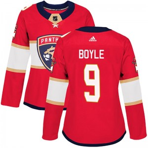Women's Florida Panthers Brian Boyle Adidas Authentic Home Jersey - Red