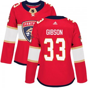 Women's Florida Panthers Christopher Gibson Adidas Authentic Home Jersey - Red