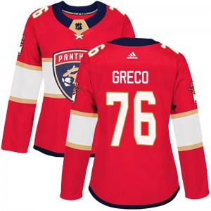 Women's Florida Panthers Anthony Greco Adidas Authentic Home Jersey - Red