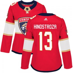 Women's Florida Panthers Vinnie Hinostroza Adidas Authentic Home Jersey - Red