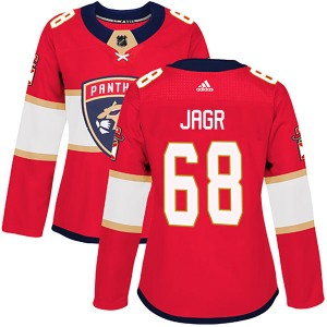 Women's Florida Panthers Jaromir Jagr Adidas Authentic Home Jersey - Red