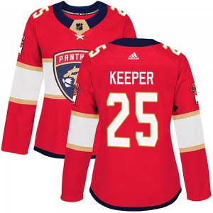 Women's Florida Panthers Brady Keeper Adidas Authentic ized Home Jersey - Red