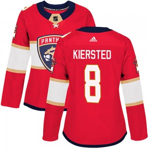 Women's Florida Panthers Matt Kiersted Adidas Authentic Home Jersey - Red