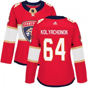 Women's Florida Panthers Vladislav Kolyachonok Adidas Authentic Home Jersey - Red