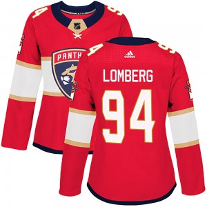 Women's Florida Panthers Ryan Lomberg Adidas Authentic Home Jersey - Red