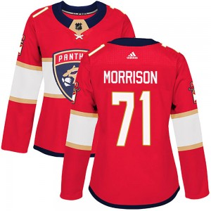 Women's Florida Panthers Brad Morrison Adidas Authentic Home Jersey - Red