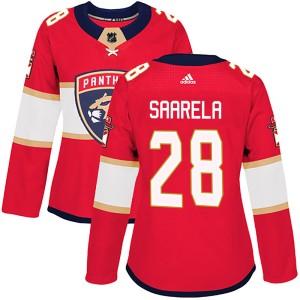 Women's Florida Panthers Aleksi Saarela Adidas Authentic ized Home Jersey - Red