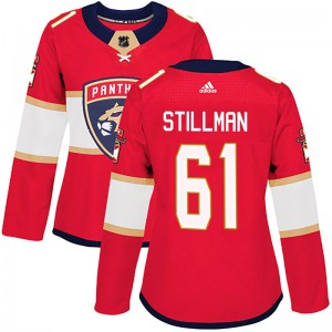 Women's Florida Panthers Riley Stillman Adidas Authentic Home Jersey - Red
