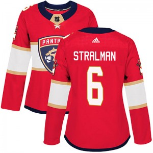 Women's Florida Panthers Anton Stralman Adidas Authentic Home Jersey - Red
