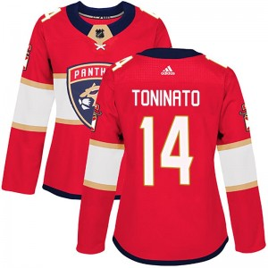 Women's Florida Panthers Dominic Toninato Adidas Authentic Home Jersey - Red