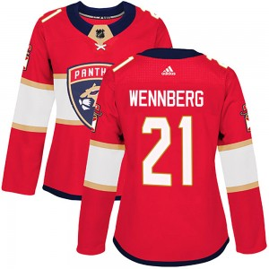 Women's Florida Panthers Alex Wennberg Adidas Authentic Home Jersey - Red