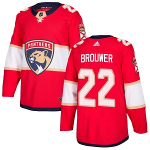 Men's Florida Panthers Troy Brouwer Adidas Authentic Home Jersey - Red