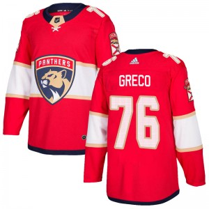 Men's Florida Panthers Anthony Greco Adidas Authentic Home Jersey - Red