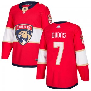 Men's Florida Panthers Radko Gudas Adidas Authentic Home Jersey - Red