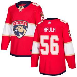 Men's Florida Panthers Erik Haula Adidas Authentic ized Home Jersey - Red