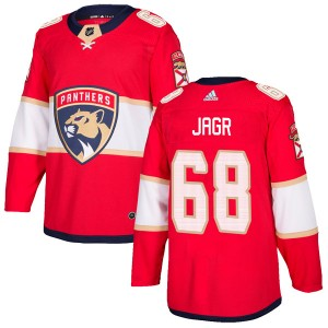 Men's Florida Panthers Jaromir Jagr Adidas Authentic Home Jersey - Red