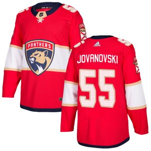 Men's Florida Panthers Ed Jovanovski Adidas Authentic Home Jersey - Red