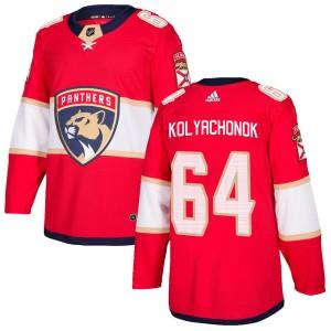 Men's Florida Panthers Vladislav Kolyachonok Adidas Authentic Home Jersey - Red