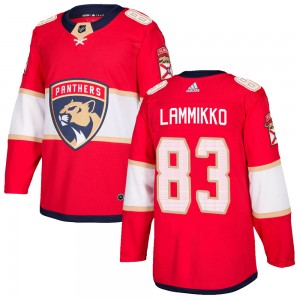 Men's Florida Panthers Juho Lammikko Adidas Authentic Home Jersey - Red
