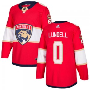 Men's Florida Panthers Anton Lundell Adidas Authentic Home Jersey - Red