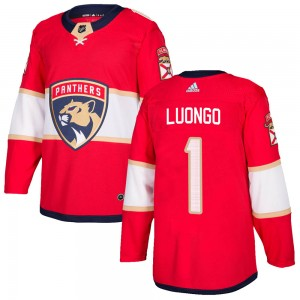 Men's Florida Panthers Roberto Luongo Adidas Authentic Home Jersey - Red