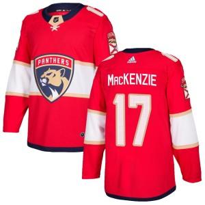 Men's Florida Panthers Derek Mackenzie Adidas Authentic Derek MacKenzie Home Jersey - Red