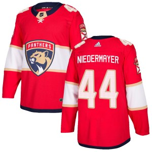 Men's Florida Panthers Rob Niedermayer Adidas Authentic Home Jersey - Red