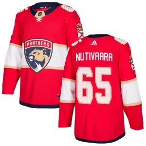 Men's Florida Panthers Markus Nutivaara Adidas Authentic Home Jersey - Red