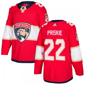 Men's Florida Panthers Chase Priskie Adidas Authentic Home Jersey - Red