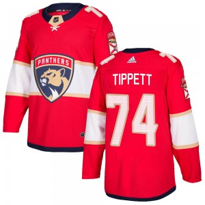 Men's Florida Panthers Owen Tippett Adidas Authentic Home Jersey - Red