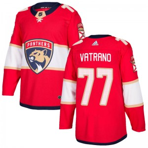 Men's Florida Panthers Frank Vatrano Adidas Authentic Home Jersey - Red