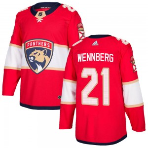 Men's Florida Panthers Alex Wennberg Adidas Authentic Home Jersey - Red